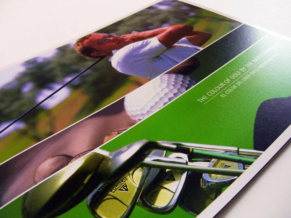 ゴルフ場カタログ 表紙デザイン