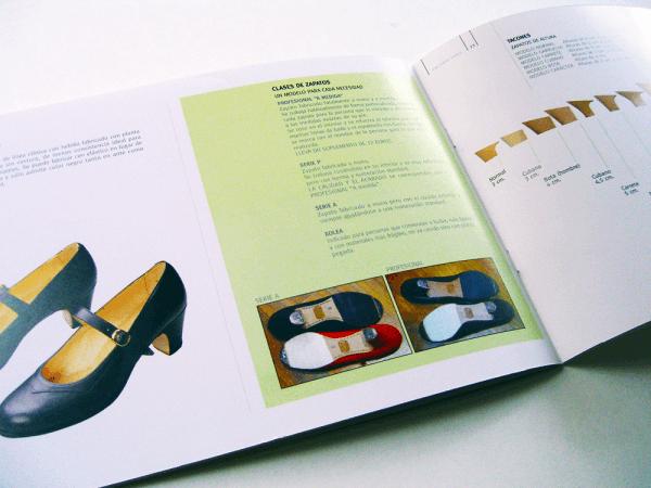フラメンコシューズ製品カタログ 中面デザイン